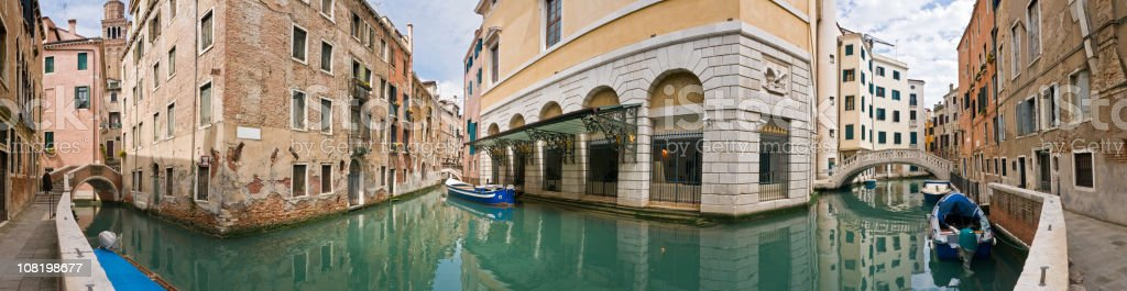 Canals and Villas of Venice stock photo