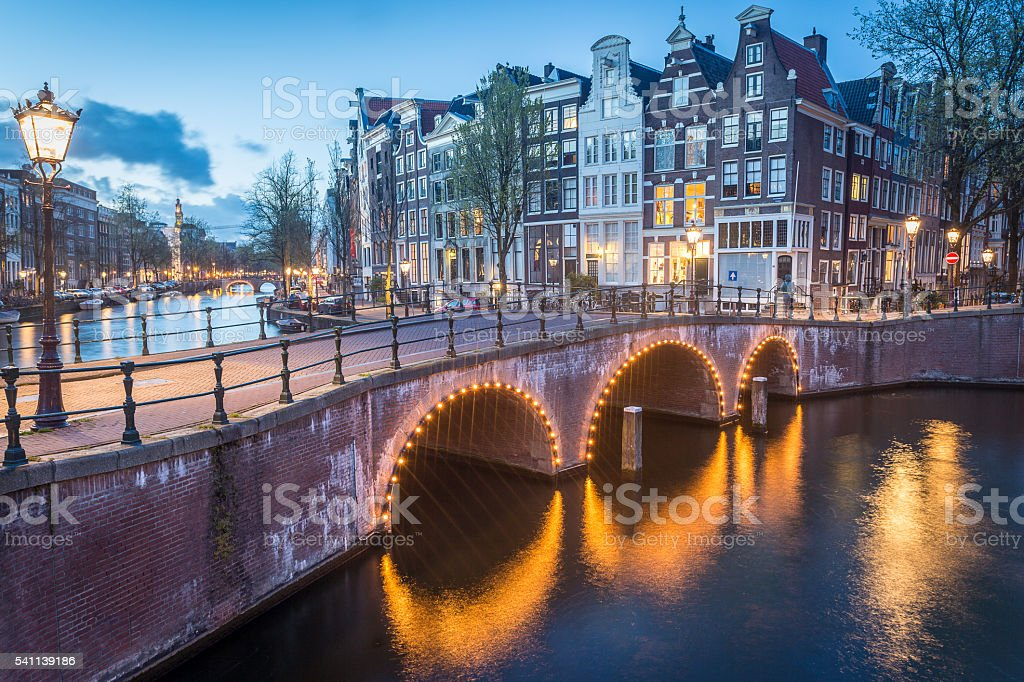 Canals Crossroads, Amsterdam stock photo