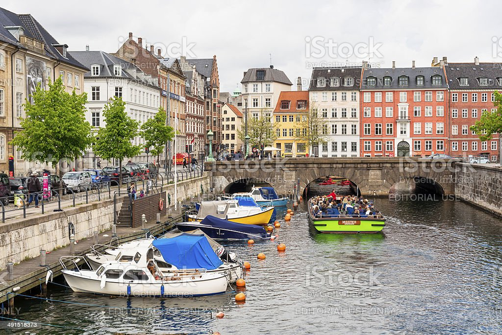 Canals in Copenhagen royalty-free stock photo