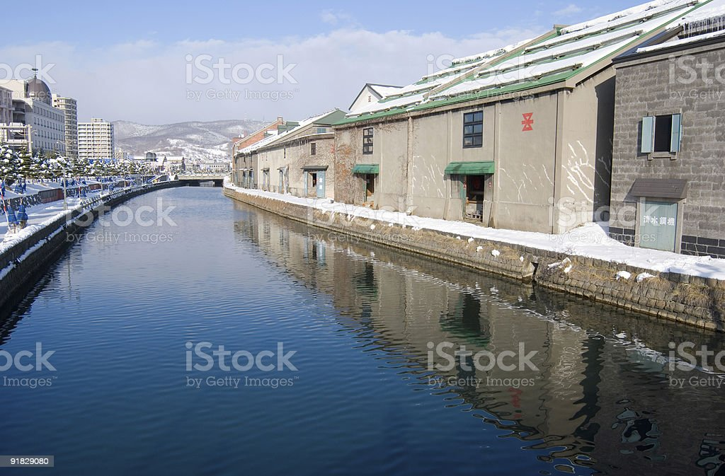 Canals in Otaru royalty-free stock photo