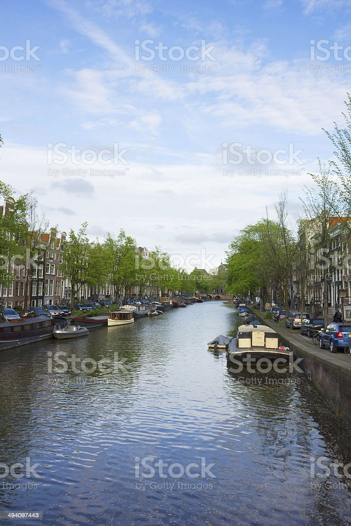 canals of Amsterdam, Holland royalty-free stock photo