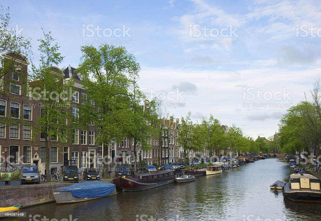 canals of Amsterdam, Netherlands royalty-free stock photo