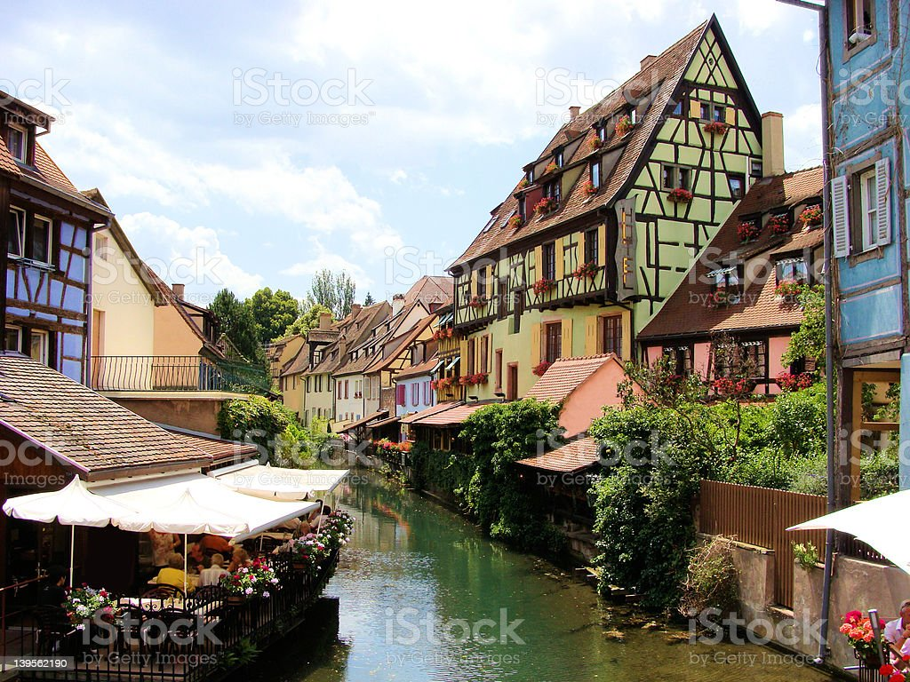 Canals of Colmar, France stock photo