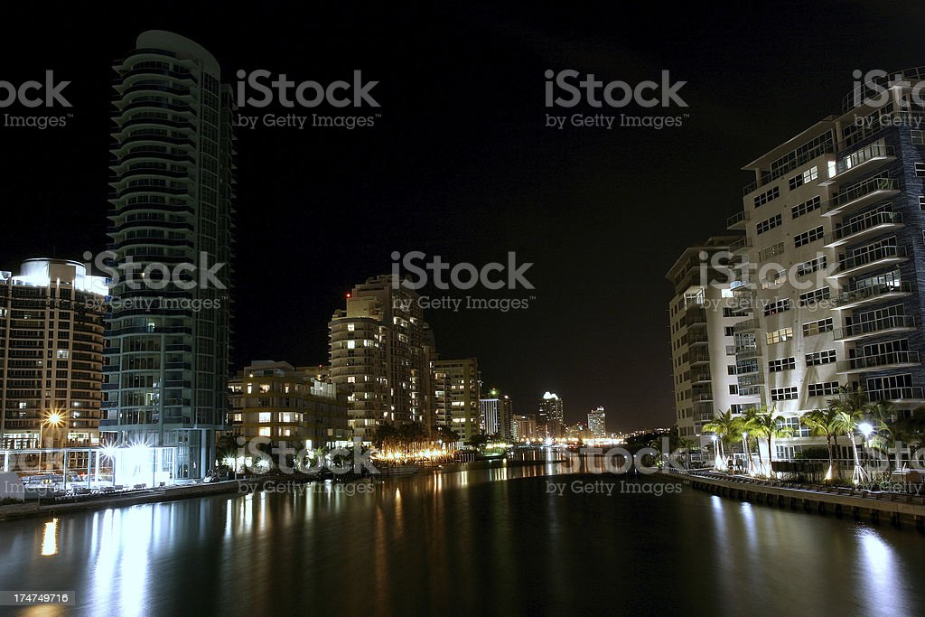 canals of Miami Beach royalty-free stock photo