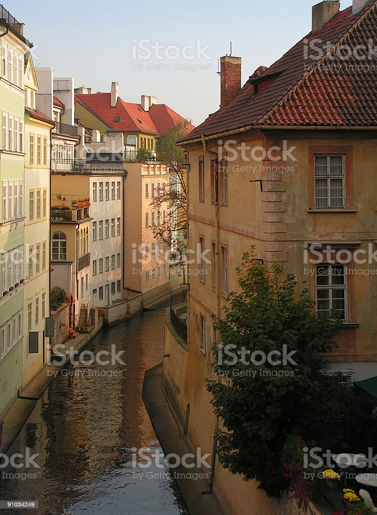canals of prague royalty-free stock photo