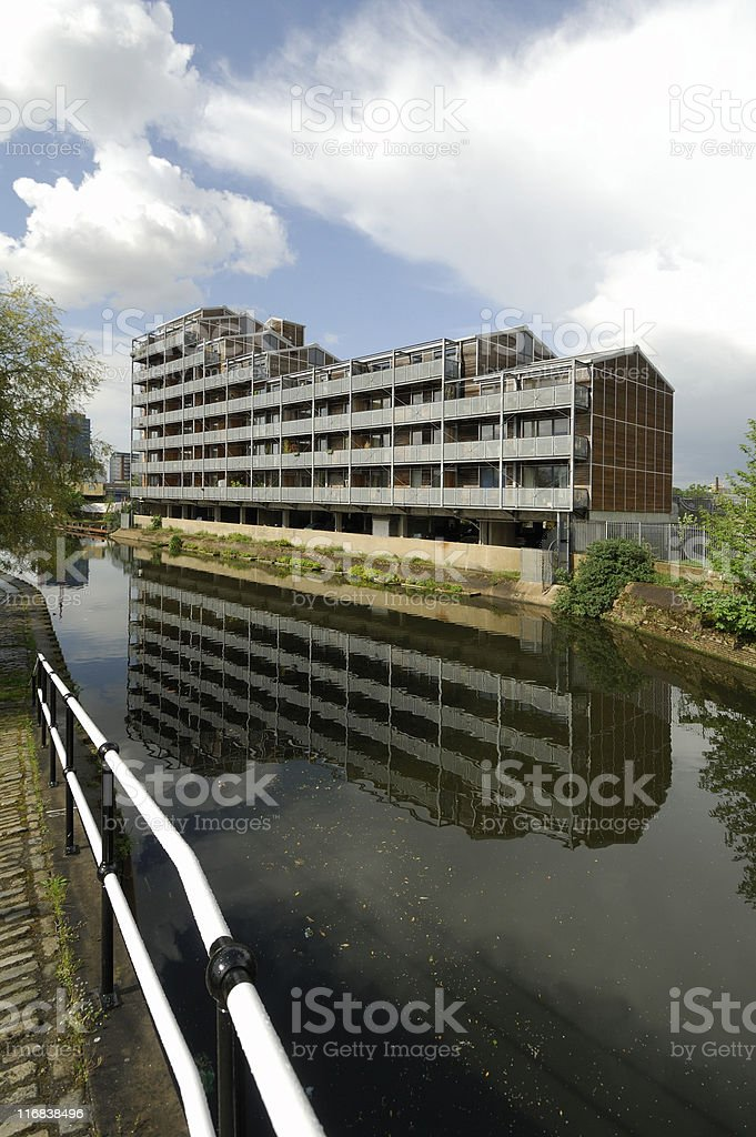 Canalside Apartments, London royalty-free stock photo