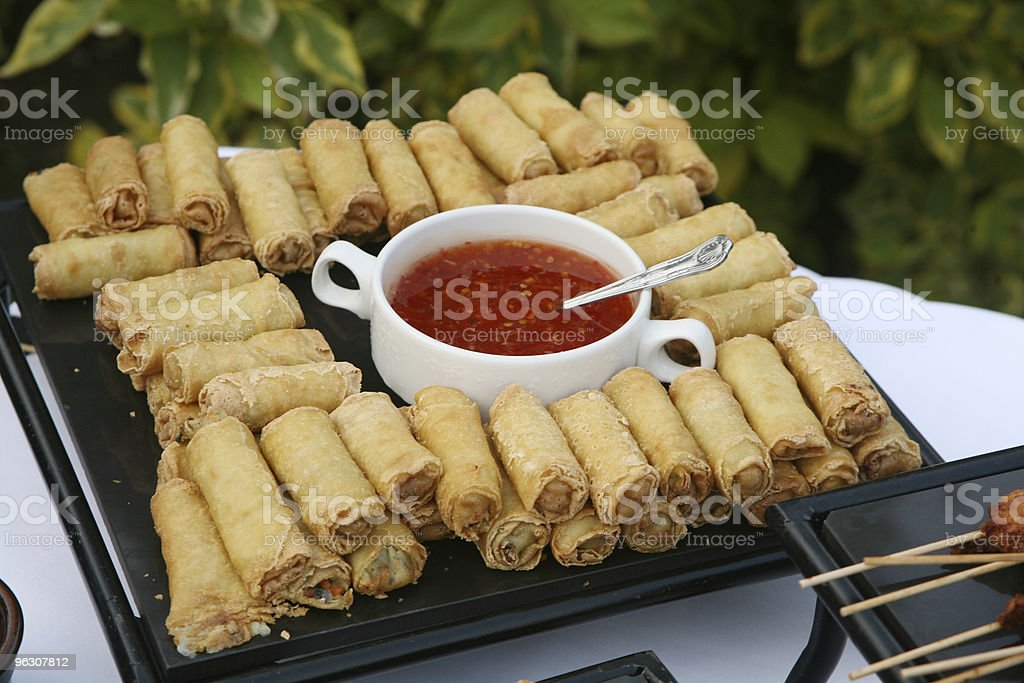 Canape Spring Rolls royalty-free stock photo