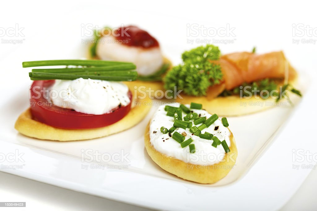 Canape variation stock photo