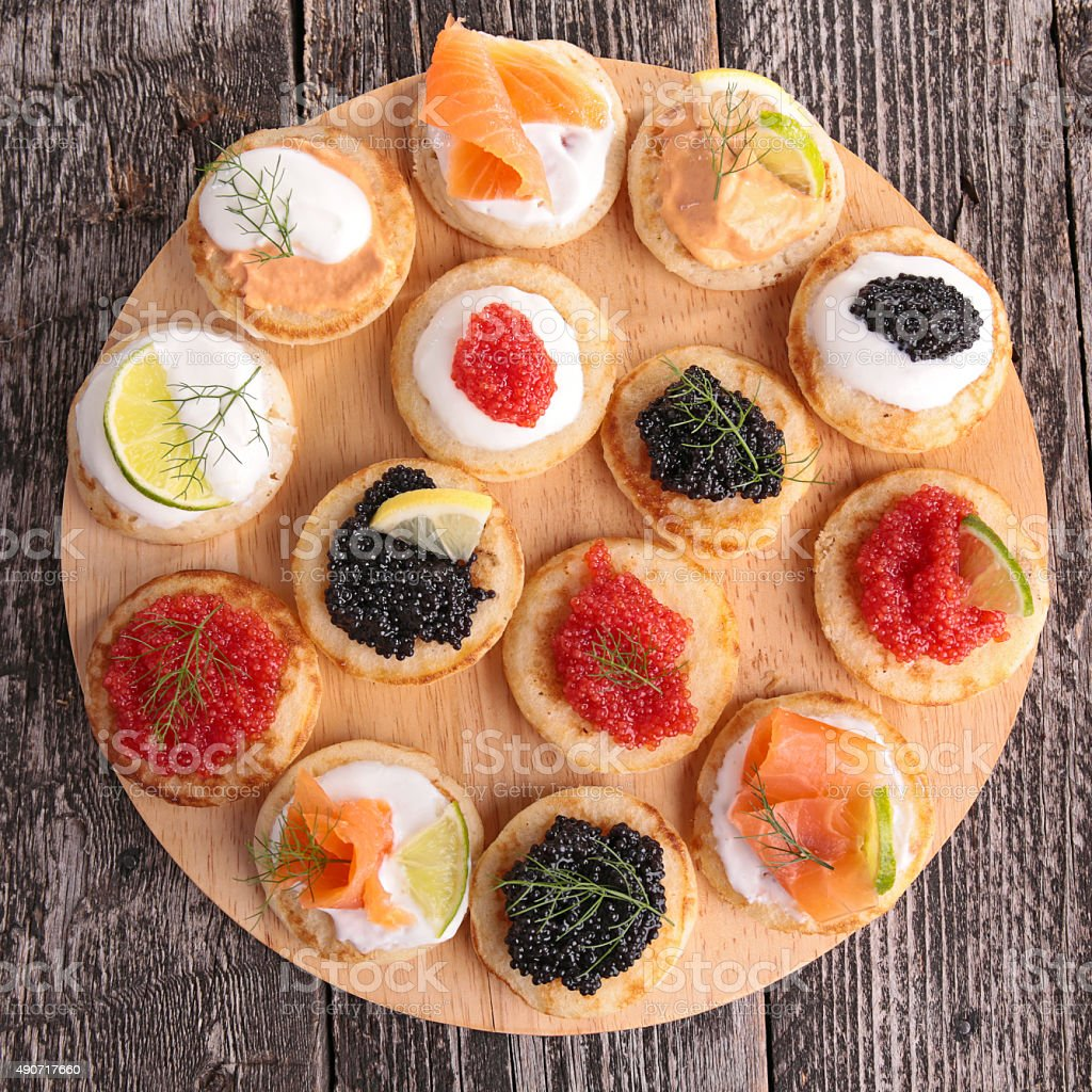 canape,buffet food stock photo