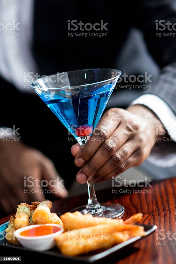Canapes and Cocktail stock photo