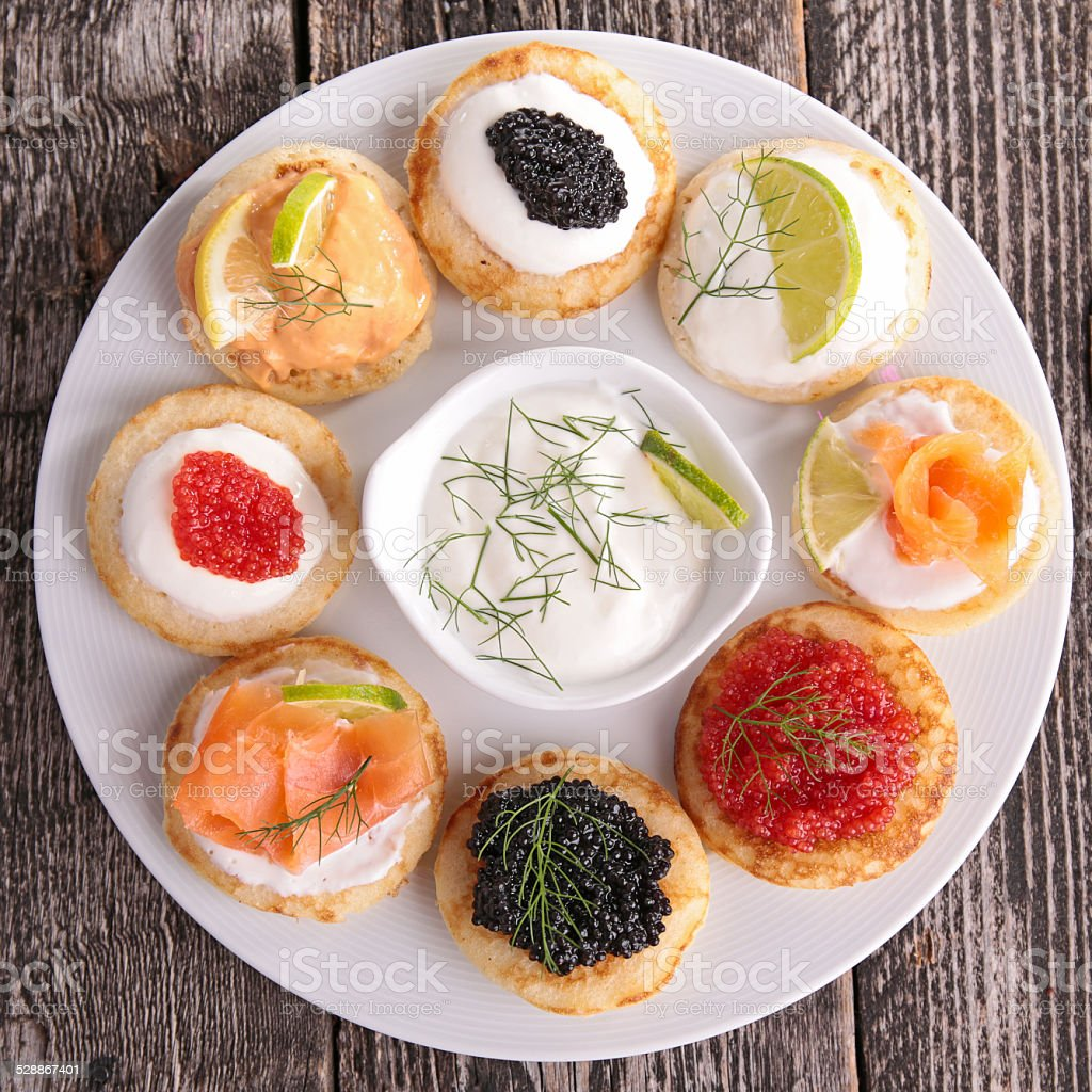 canapes, finger food stock photo