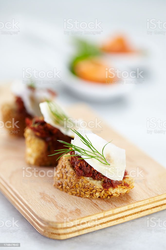 Canapes for party royalty-free stock photo