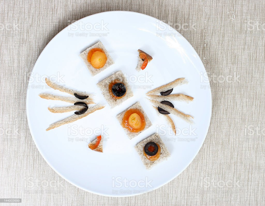 Canapes royalty-free stock photo