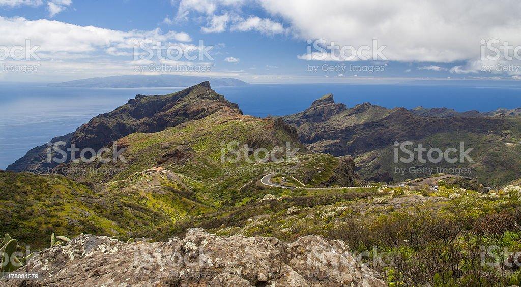 Canarian mountain road. royalty-free stock photo