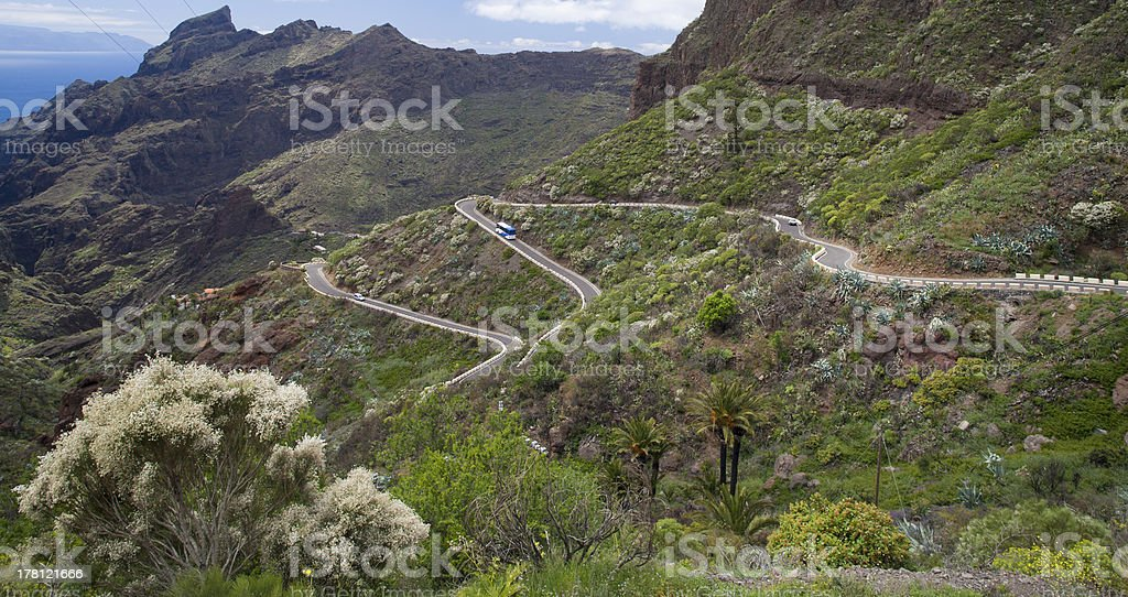 Canarian mountain road. royalty-free stock photo
