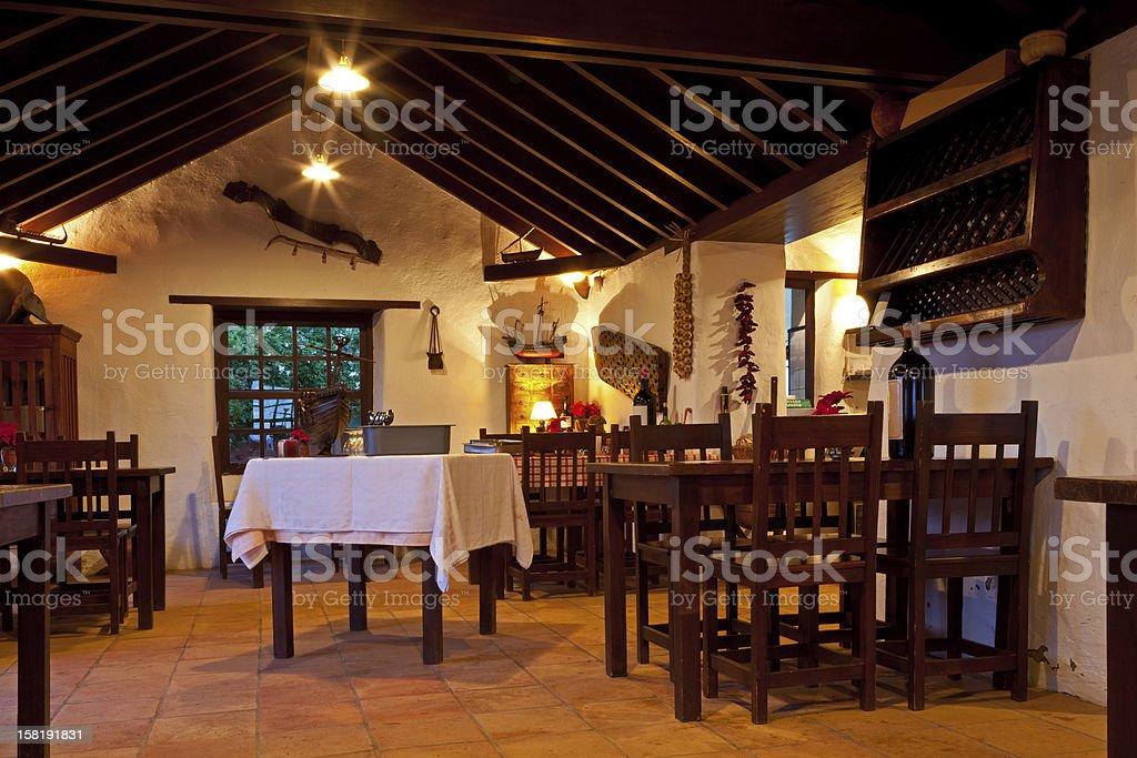 Canarian Rural Restaurant Interior royalty-free stock photo