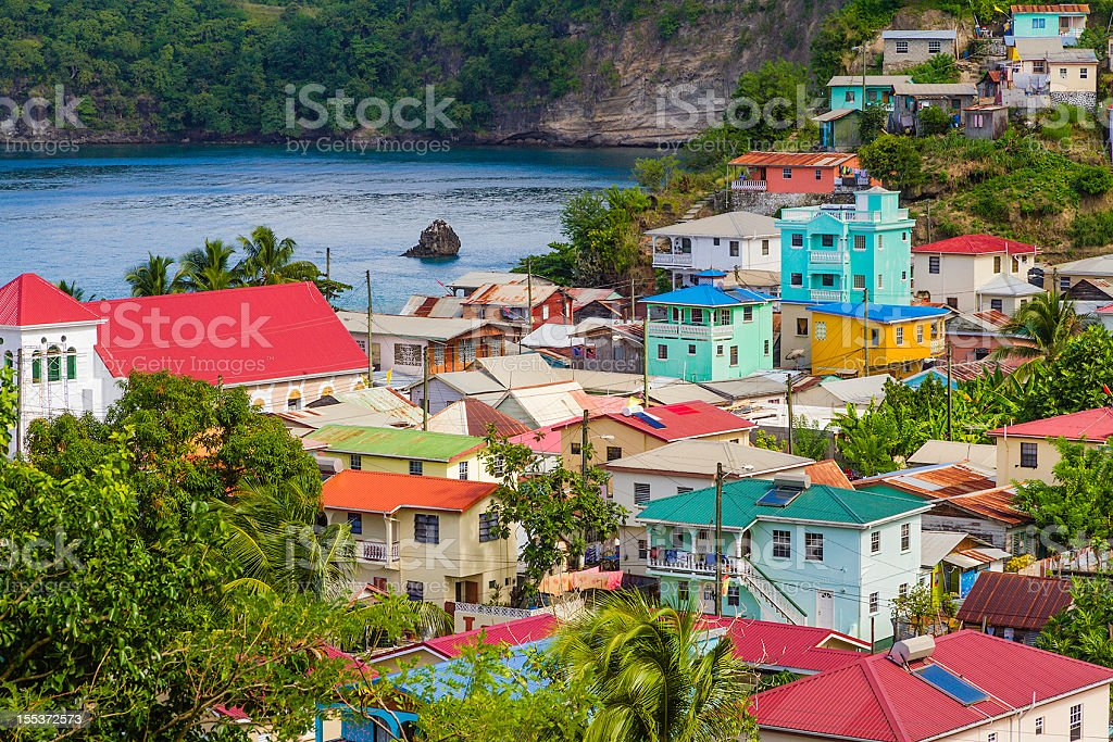 Canaries, Saint Lucia stock photo