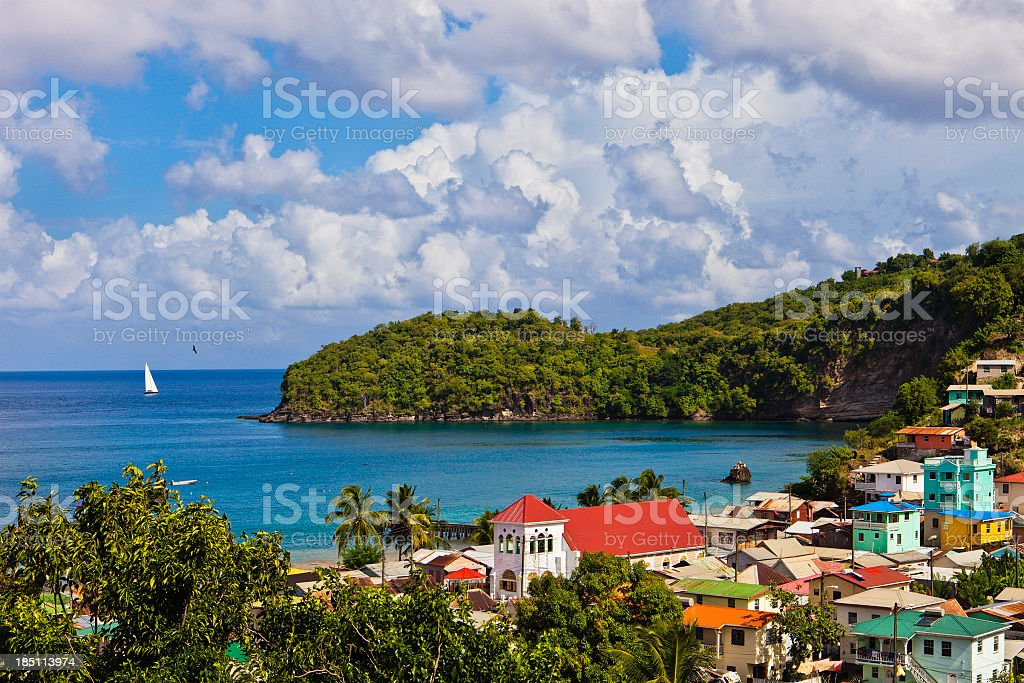 Canaries, Saint Lucia stock photo