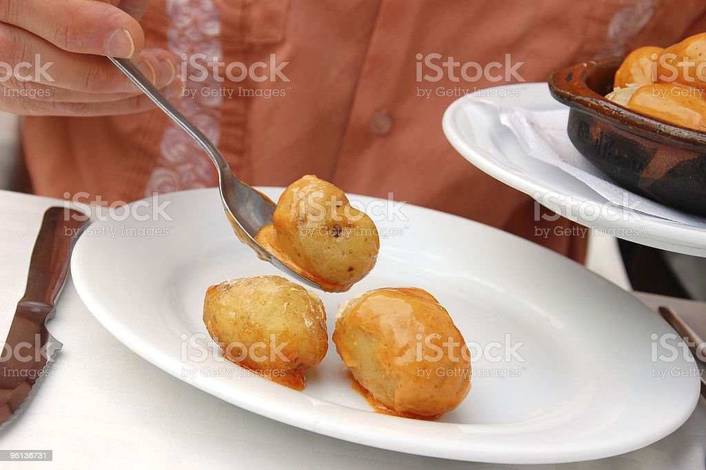 Canary Island Potatoes stock photo