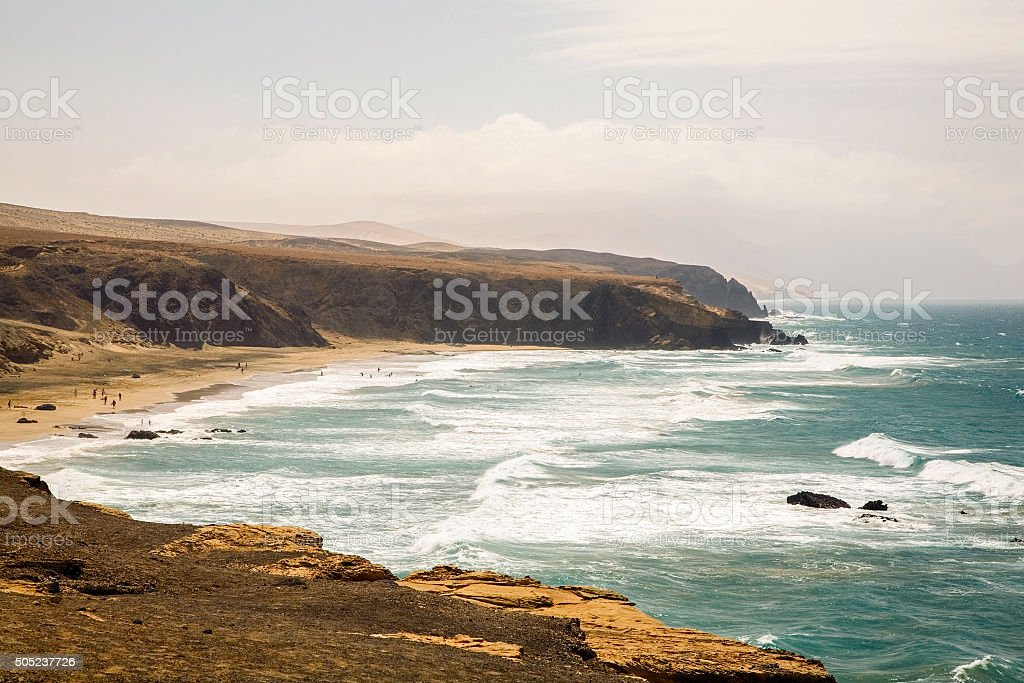 Canary Islands surf beach stock photo