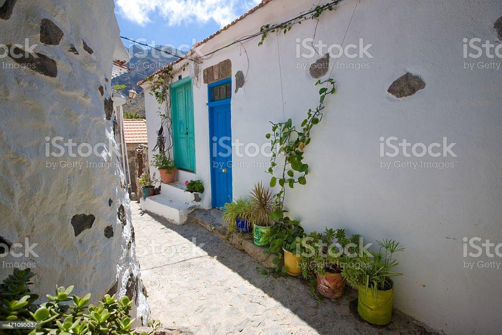canary village stock photo