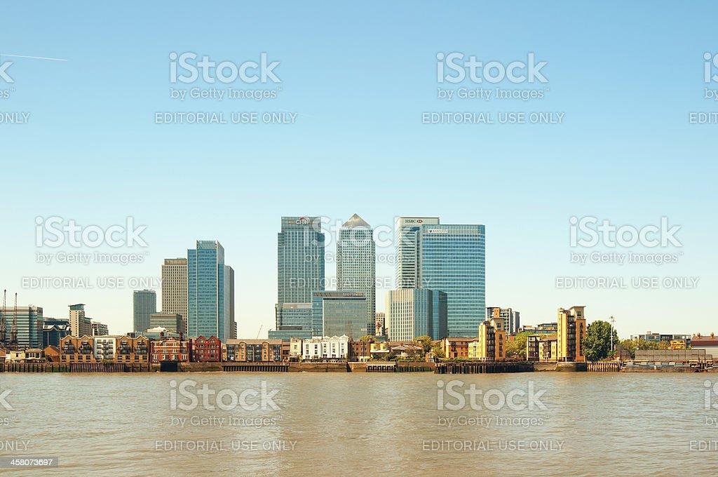 Canary Wahrf, London stock photo