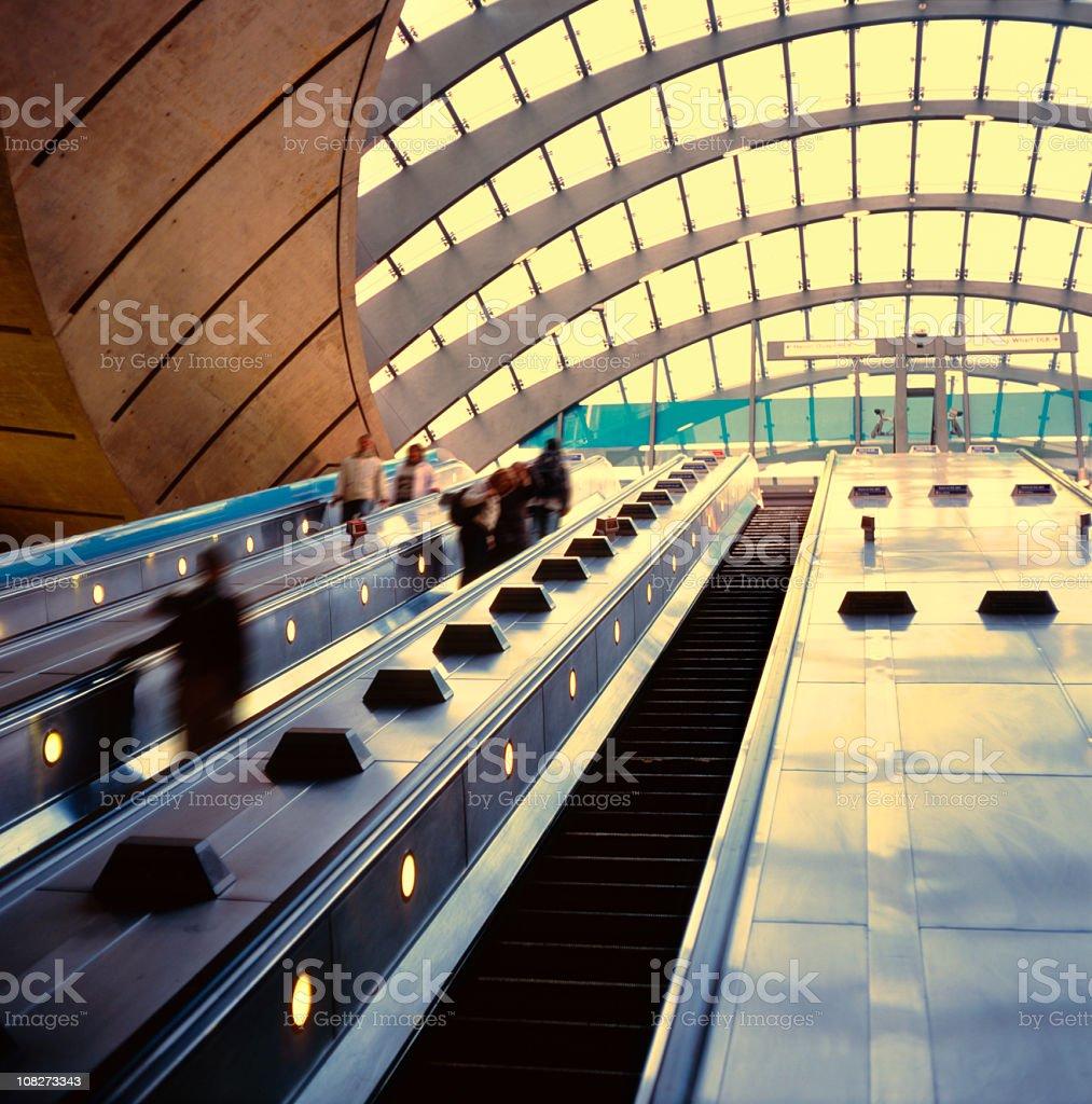 Canary Warf underground station stock photo