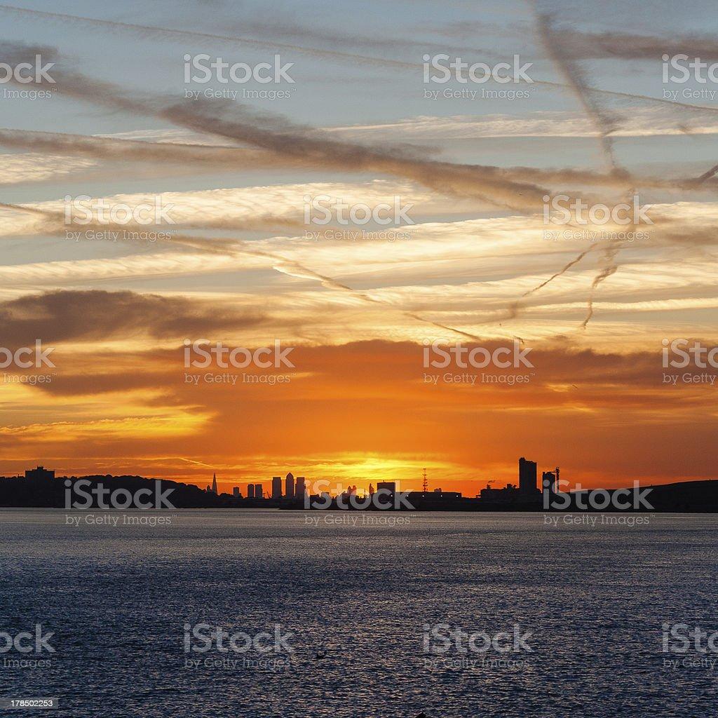 canary wharf backdrop royalty-free stock photo