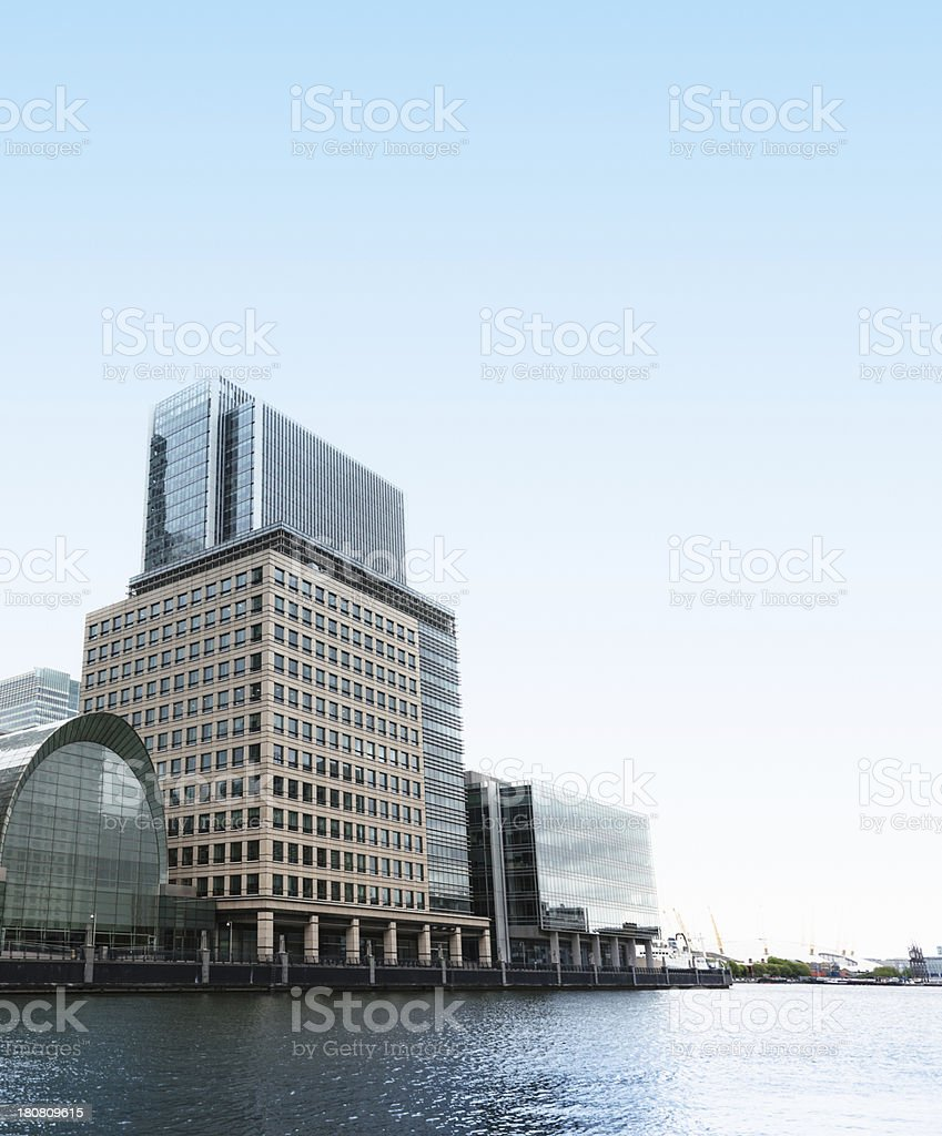 Canary wharf building royalty-free stock photo