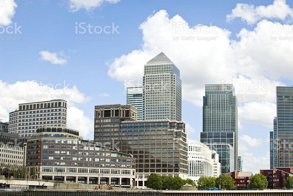 Canary Wharf - Docklands London stock photo