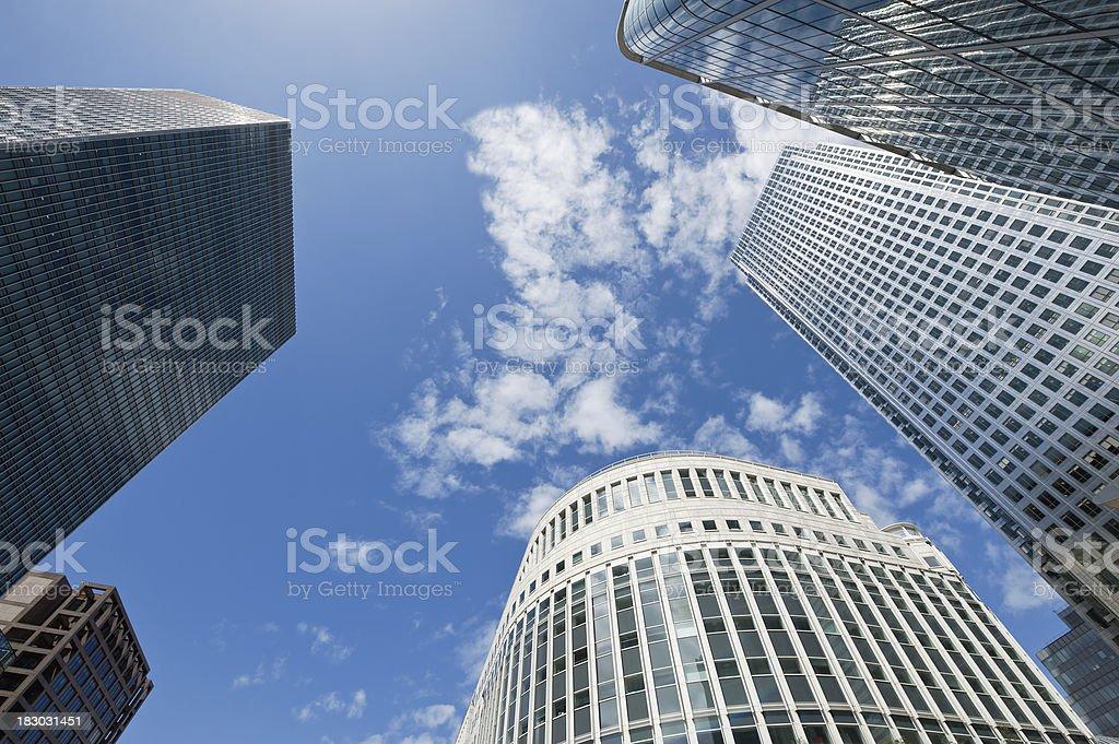 Canary Wharf financial center, London royalty-free stock photo