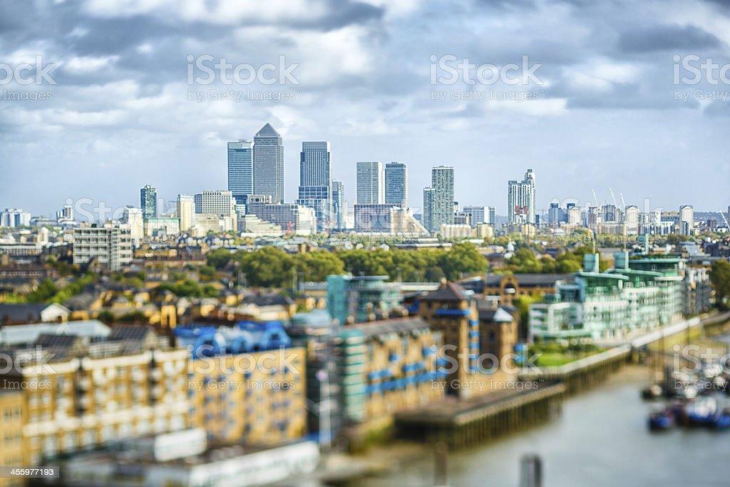 Canary Wharf financial center, London, UK stock photo