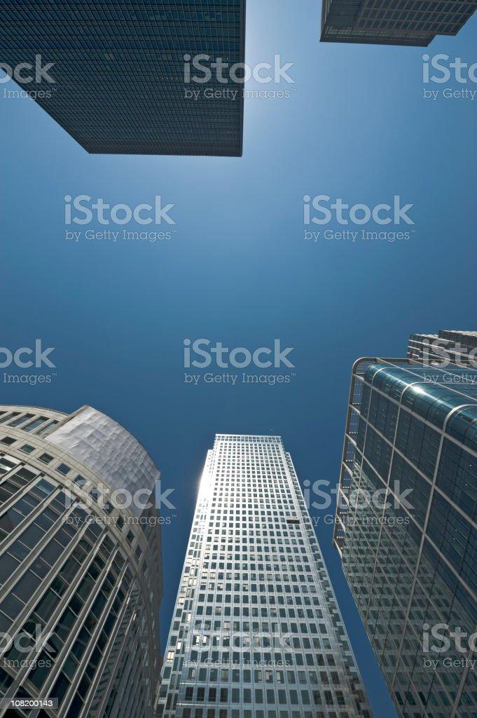 Canary Wharf financial center royalty-free stock photo