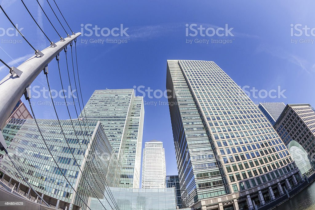 Canary Wharf, Financial District in London stock photo