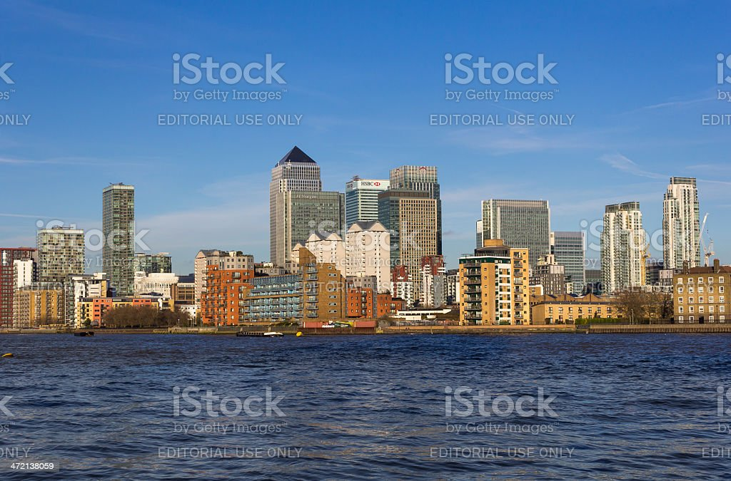 Canary Wharf from the South royalty-free stock photo