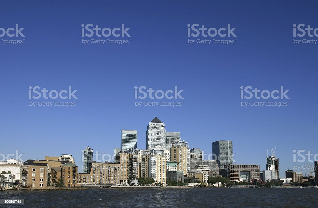 Canary Wharf in London, England royalty-free stock photo