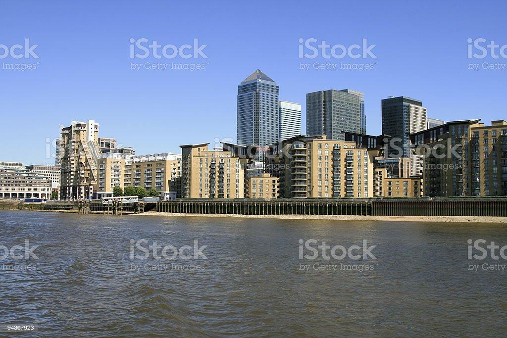 Canary Wharf in London, England stock photo