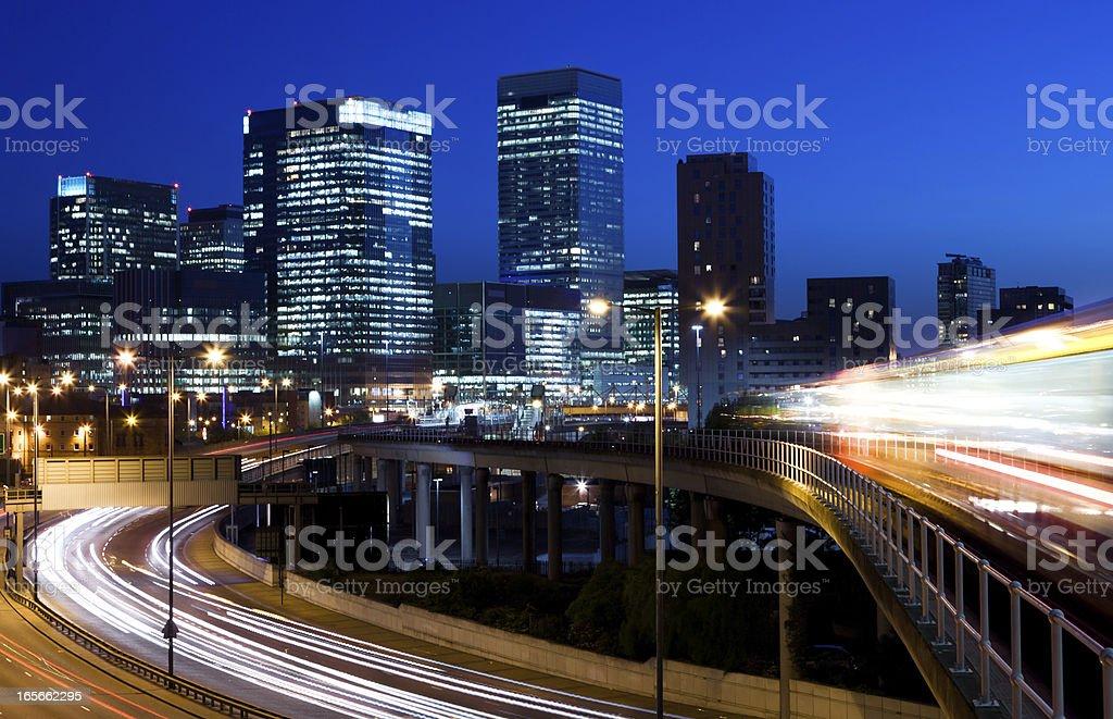 Canary Wharf in London stock photo