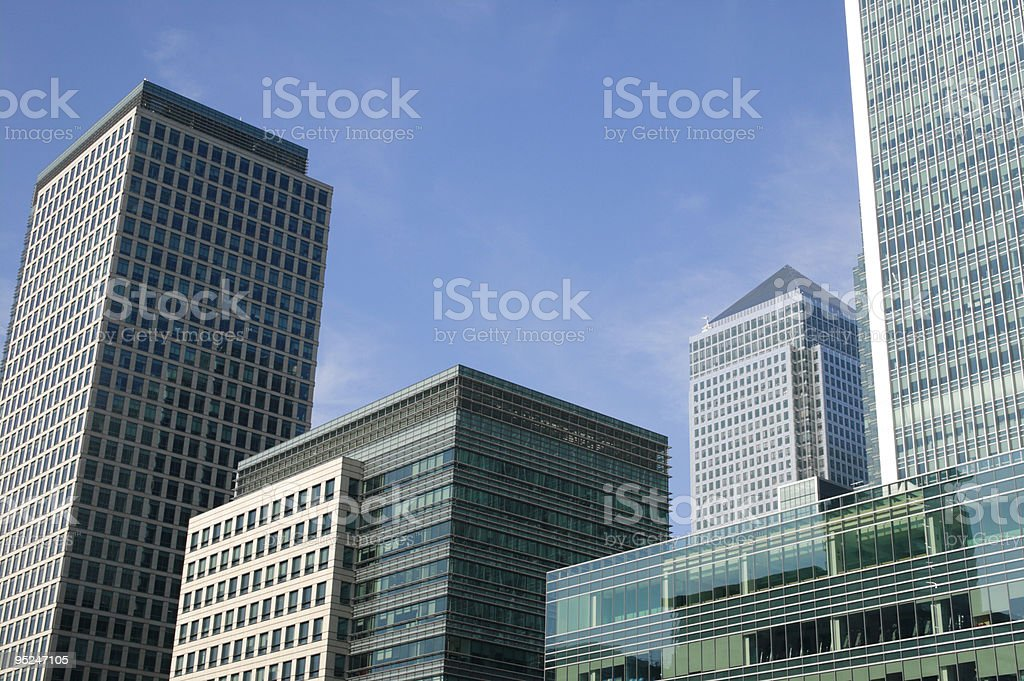 Canary Wharf in London's Docklands royalty-free stock photo