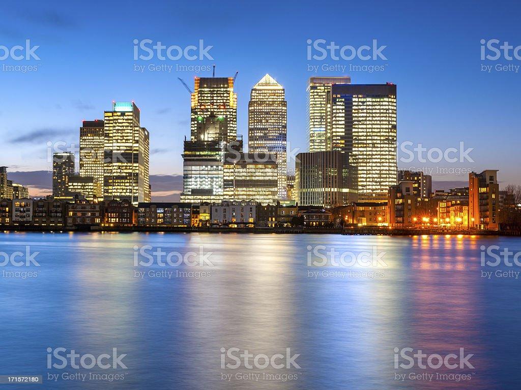 Canary Wharf, London, England royalty-free stock photo
