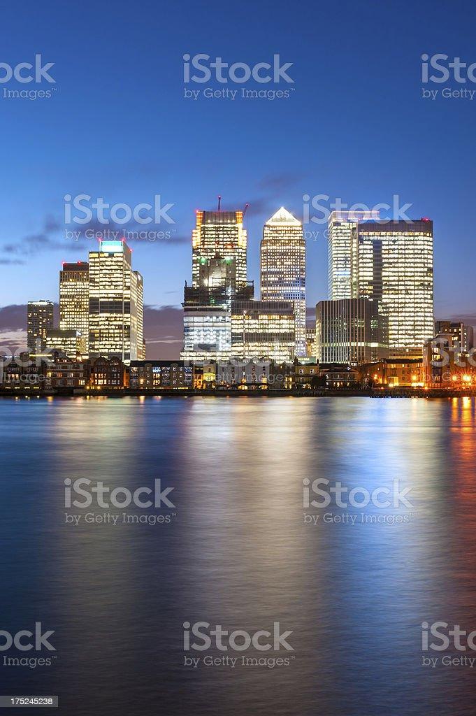 Canary Wharf, London, England stock photo