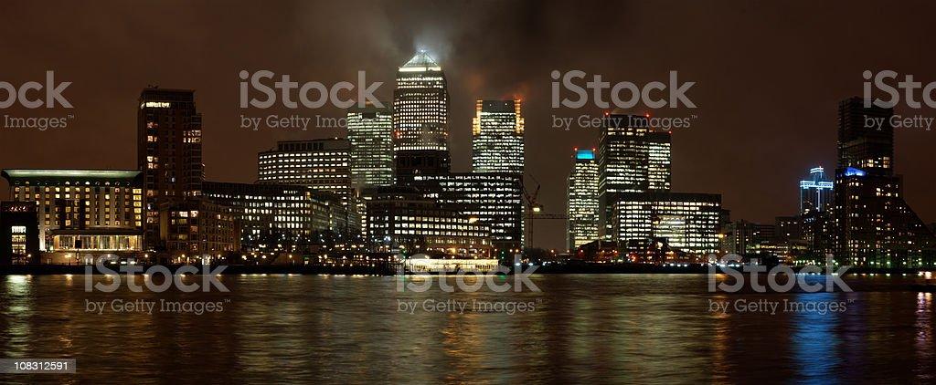 Canary Wharf, London (XXXL) royalty-free stock photo