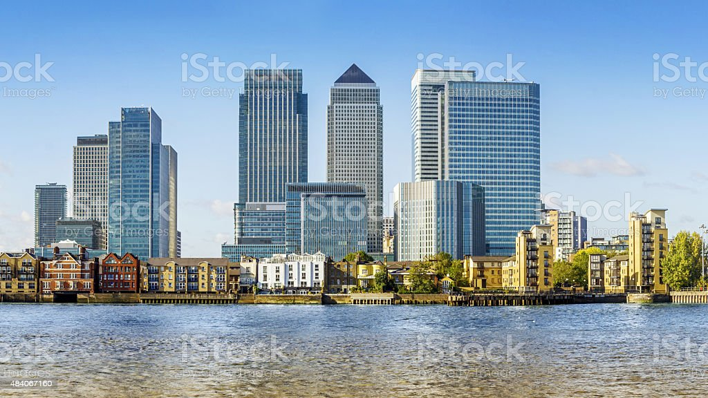 Canary Wharf, London stock photo