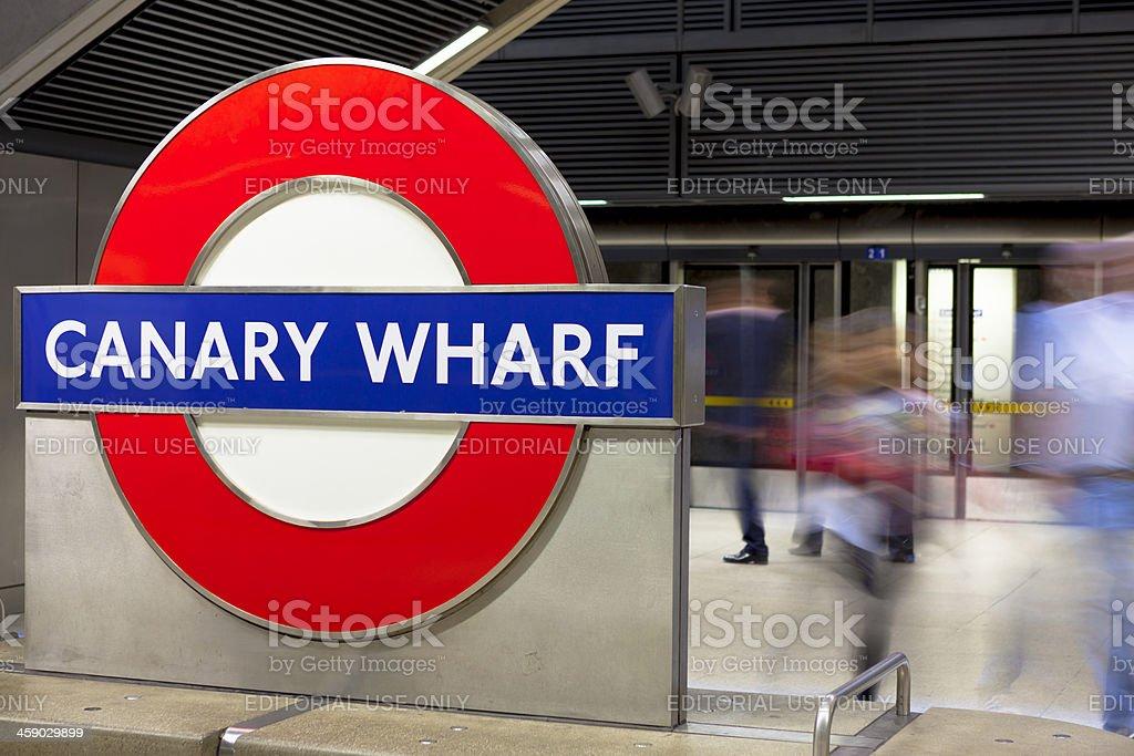 Canary Wharf Metro Station stock photo