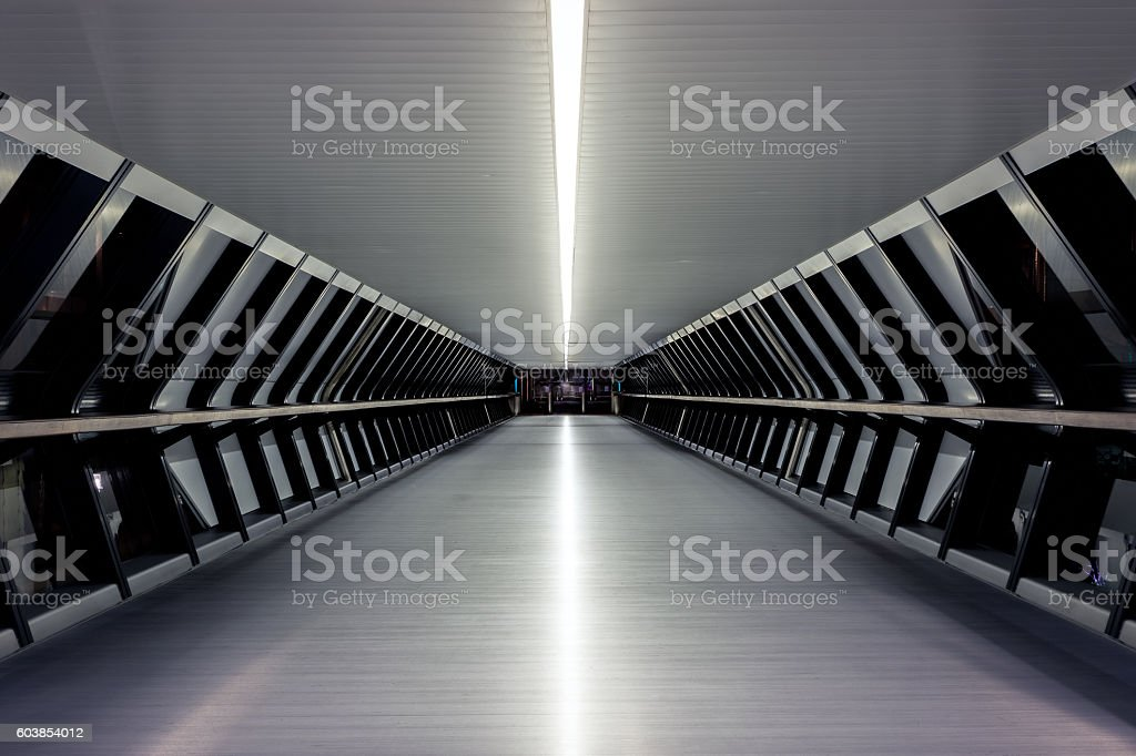 Canary Wharf Pedestrian Bridge stock photo