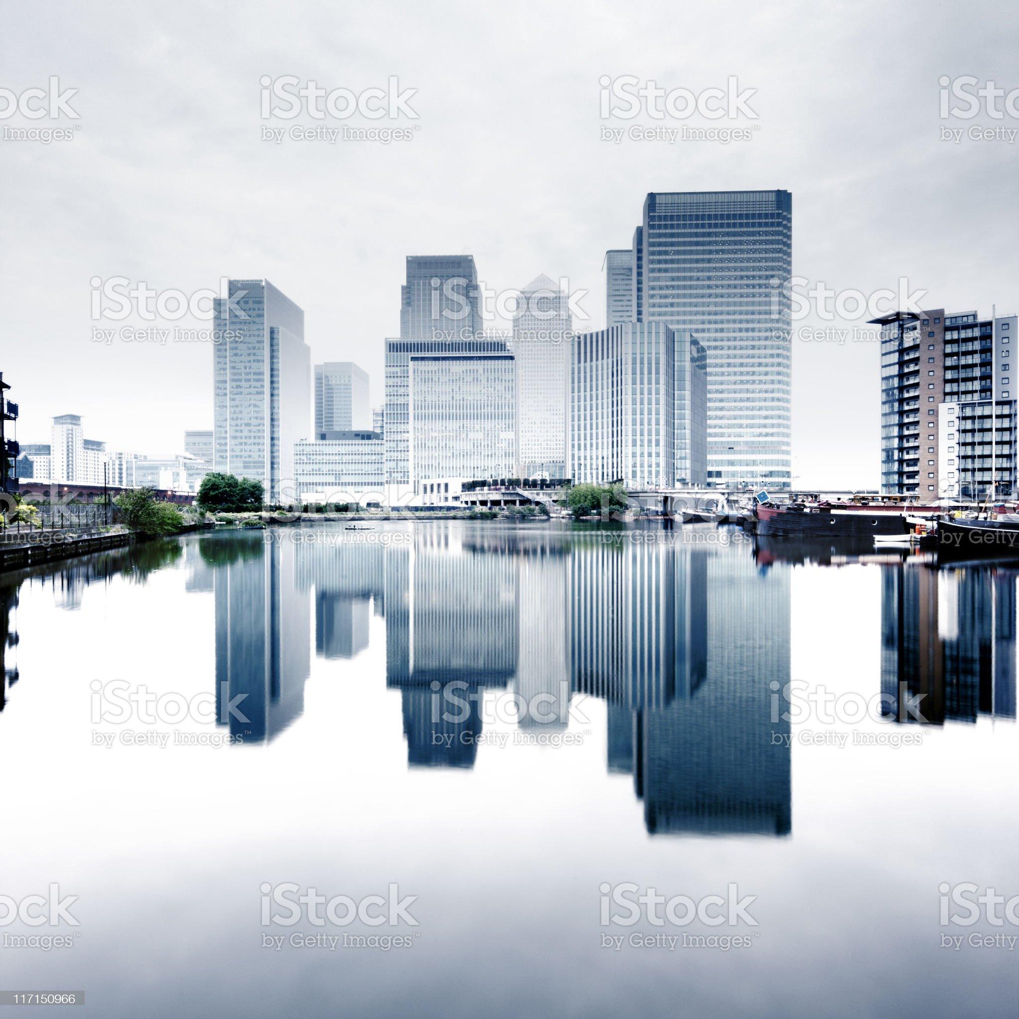 Canary Wharf royalty-free stock photo