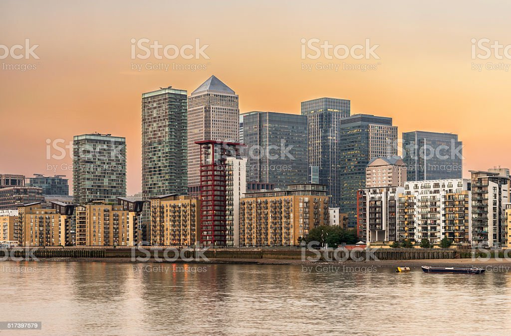 Canary Wharf stock photo