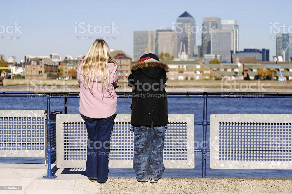 Canary Wharf... royalty-free stock photo