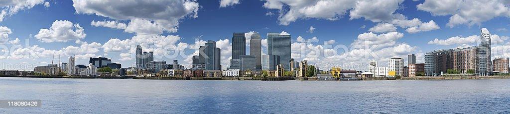 XXXL - Canary Wharf Skyline stock photo