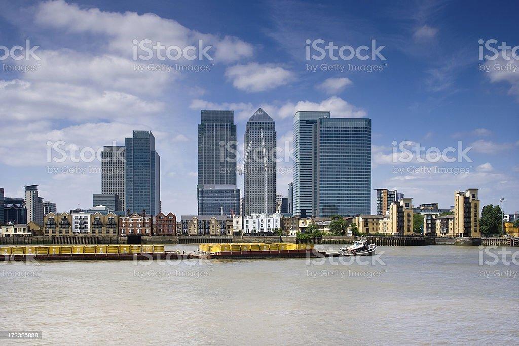 Canary Wharf Skyline royalty-free stock photo